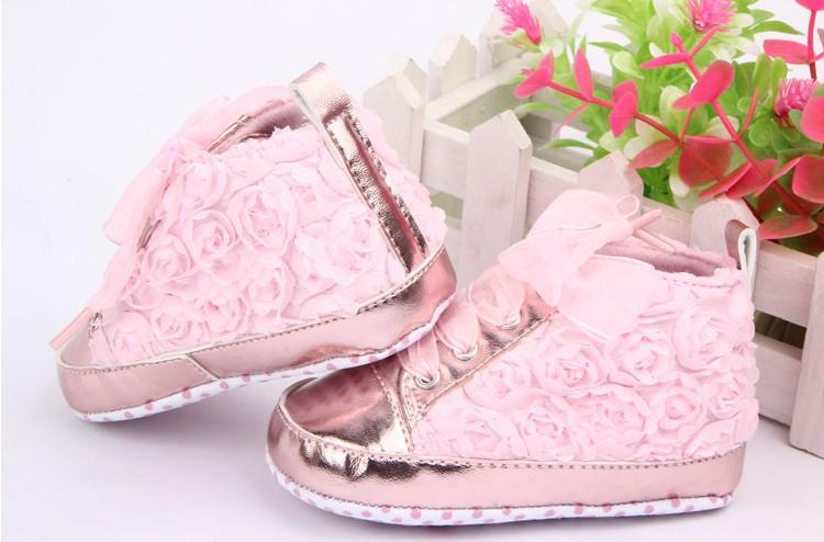 22b67eb90051 2019 Baby Kids Toddler Sapato Infant Rose Flower Soft Sole Girl Shoes Baby  First Walker JIA714 From Legou669
