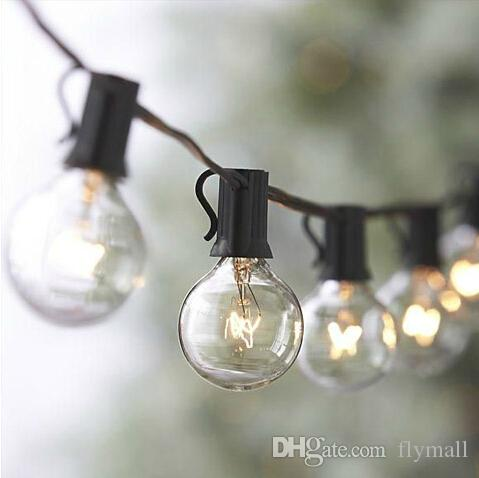 25Ft G40 Globe String Lights with 25 Clear Bulbs High Quality String Lights Perfect Indoor / Outdoor Lighting Strings Commercial Decor Light