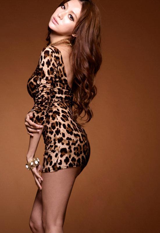 Sexy women in mini dresses