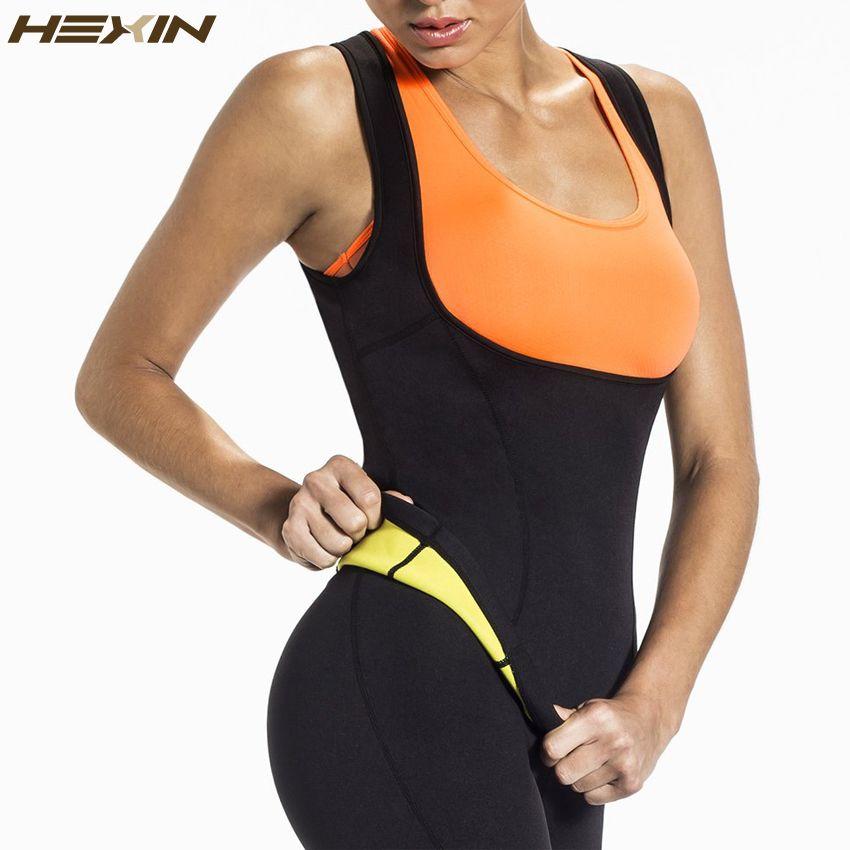 55e53e0e4e HEXIN Plus Size Neoprene Sweat Sauna Hot Body Shapers Vest Waist Trainer Slimming  Vest Shapewear Weight Loss Waist Shaper Corset Online with  8.92 Piece on  ...