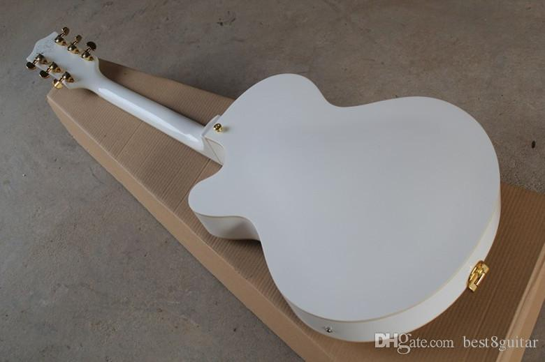 Vendita calda Top Quality Custom Shop Bianco Falcon 6120 Semi Chitarra acustica corpo Jazz con Tremolo d'oro Hardware Spedizione gratuita
