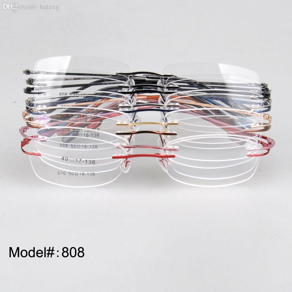542a77a6bc2 Wholesale-Rimless Hinge Memory Titanium Optical Frames Eyeglasses Choose  808 ----   Eyeglass Frame Titanium Eyeglass Design Online with   256.53 Piece on ...