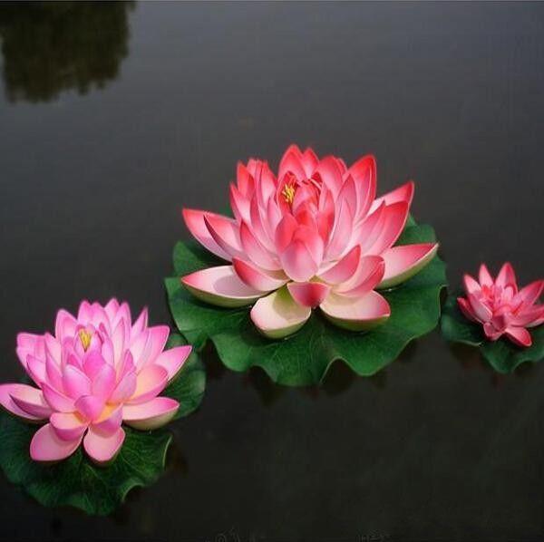 Durchmesser von 30 CM Simulation Künstliche Lotus Blume Schwimmende Wasser Blumen Für Zuhause Hochzeit Dekoration Lieferungen rosa rot weiß orange lotus