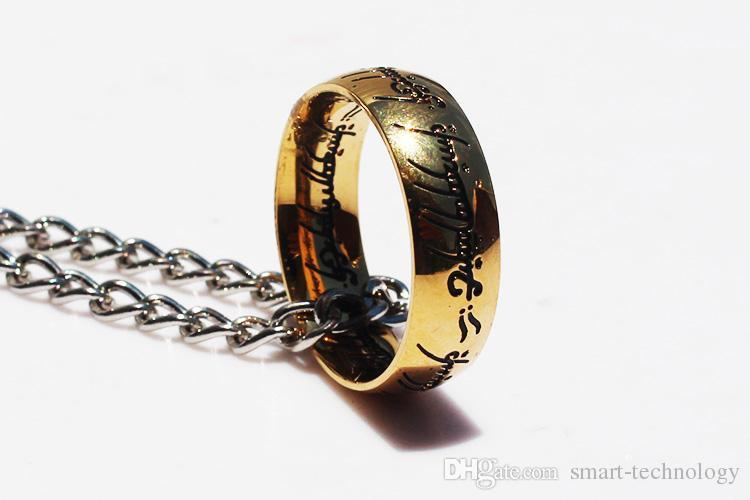 La collana Hobbit Il Signore degli Anelli Un portachiavi Bilbo Hobbit in oro 2,5 cm Spedizione gratuita