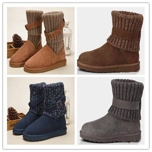 83809e961f3 Acheter Gros Femmes Wgg Australie Classic Boots Fille Triple Bleu Noir  Marron Kaki Bottes Boot Snow Hiver Bottes En Cuir Chaussures De Plein Air  Taille 35 ...