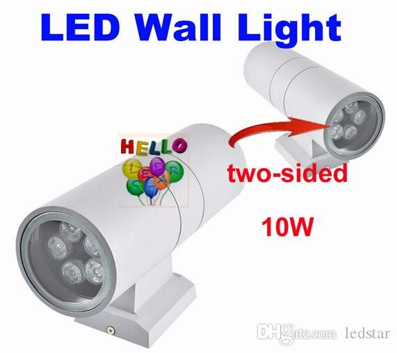 LED herauf hinunter Wandleuchte-Licht-Außenlampen-Befestigung Außenterrasse 6W 12W 18W 24W wasserdichte IP65 LED Flutlichter Wechselstrom 85-265V