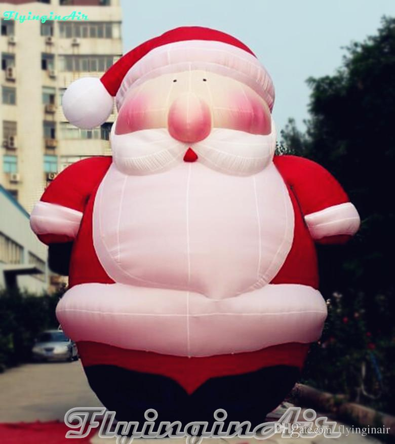 10cd1babd24d4 6m Grandfatherly Inflatable Christmas Chubby Santa Claus for Outdoor ...