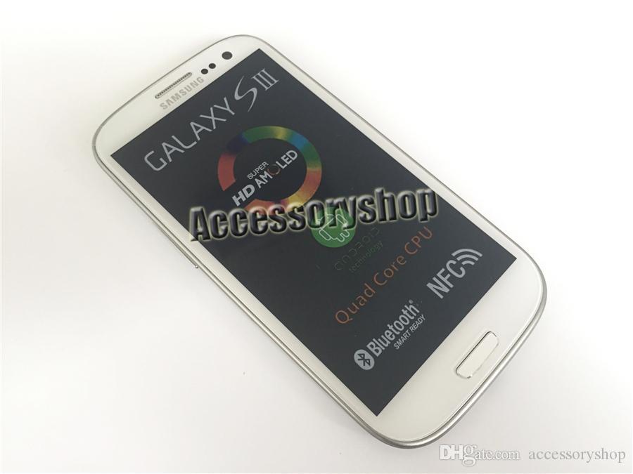 Rinnovato originale Samsung Galaxy S3 i9300 i9305 4.8 pollici HD Quad Core 1.4GHz GPS Wifi 3G WCDMA 4G LTE sbloccato Smart Phone DHL libero 1 pz