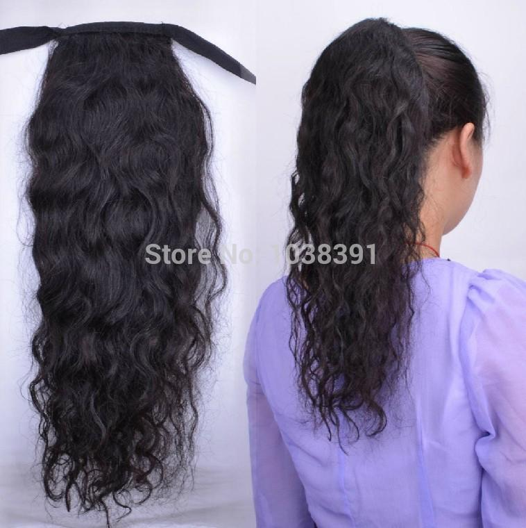 100 Human Hair Ponytail Extension Pony Tail Human Hair Clip