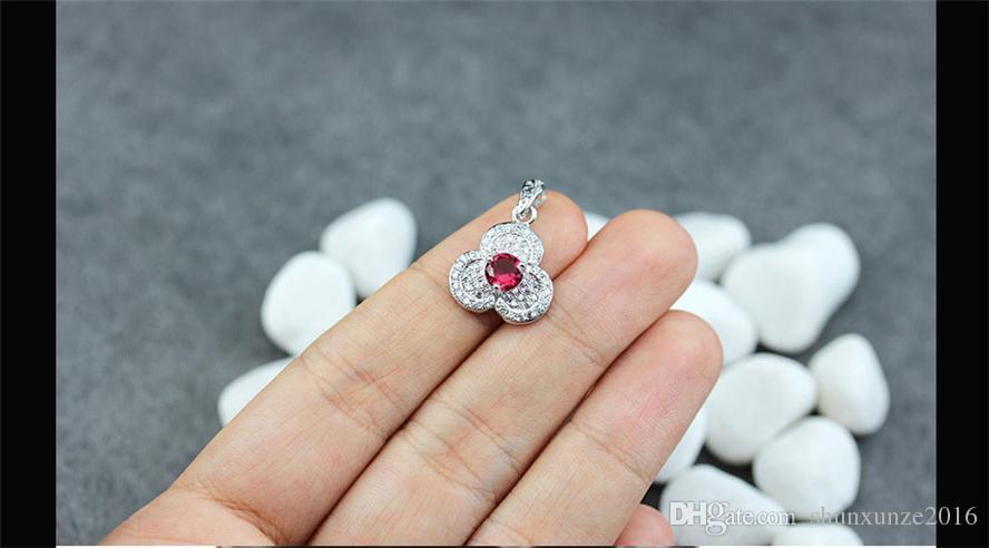 Förderung Das neue Angebot Edles Generous MN3125 Empfehlen Roter Zirkonia Bestseller Kupfer Rhodium Plated Romantische Anhänger Trendy