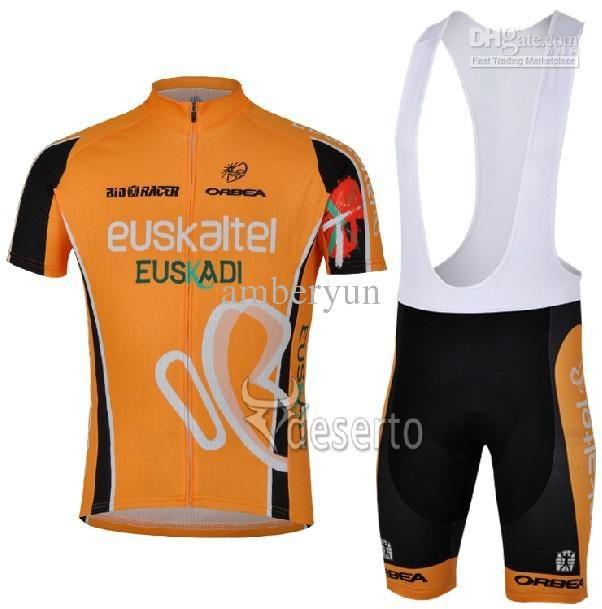 2966521d0 2013 New Euskaltel Euskadi Team Cycling Jerseys Short Sleeve And Cycling  Bib Shorts Outdoor Cycling Clothing Men Bike Clothing Cycling Wear Mountain  Biking ...