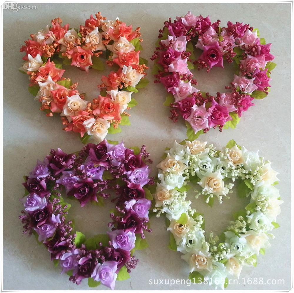wedding flowers decoration 2 2018 wedding decoration shaped wreath home 9572