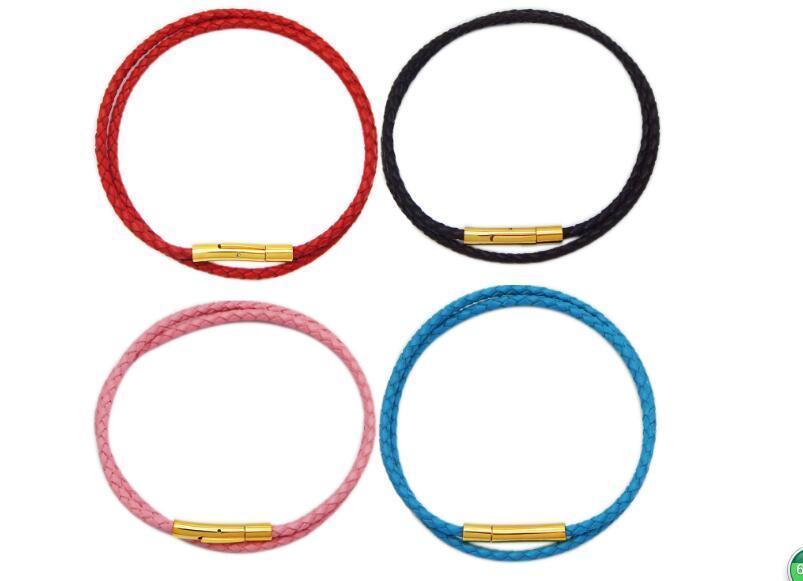 JLN broche de cuero de acero inoxidable para pulsera collar ganchos conector hebilla de cierre para hacer la joyería de bricolaje