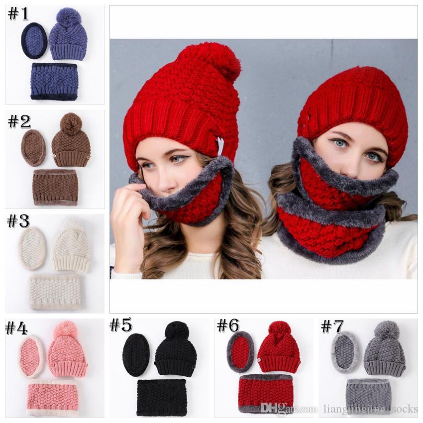 632a3ee9b57 Winter Hats Women Mask Thicker Knitted Girls Neckerchief Warm Caps For Women  Men Christmas Gifts Hats Top Quality YYA760 UK 2019 From  Liangjingjing socks