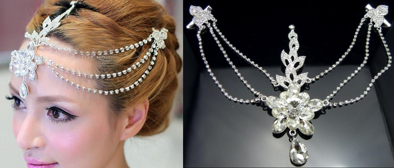 3 Strand Crystal Dangle Forehead Tiara Crown Headband Bridal Pageant Prom  Bridal Hair Comb Accessories Bridal Hair Combs Online From Princess10 2a22b4697a5