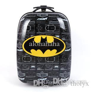Wholesale Kids Travel Trolley Bag Waterproof Spiederman Batman ...