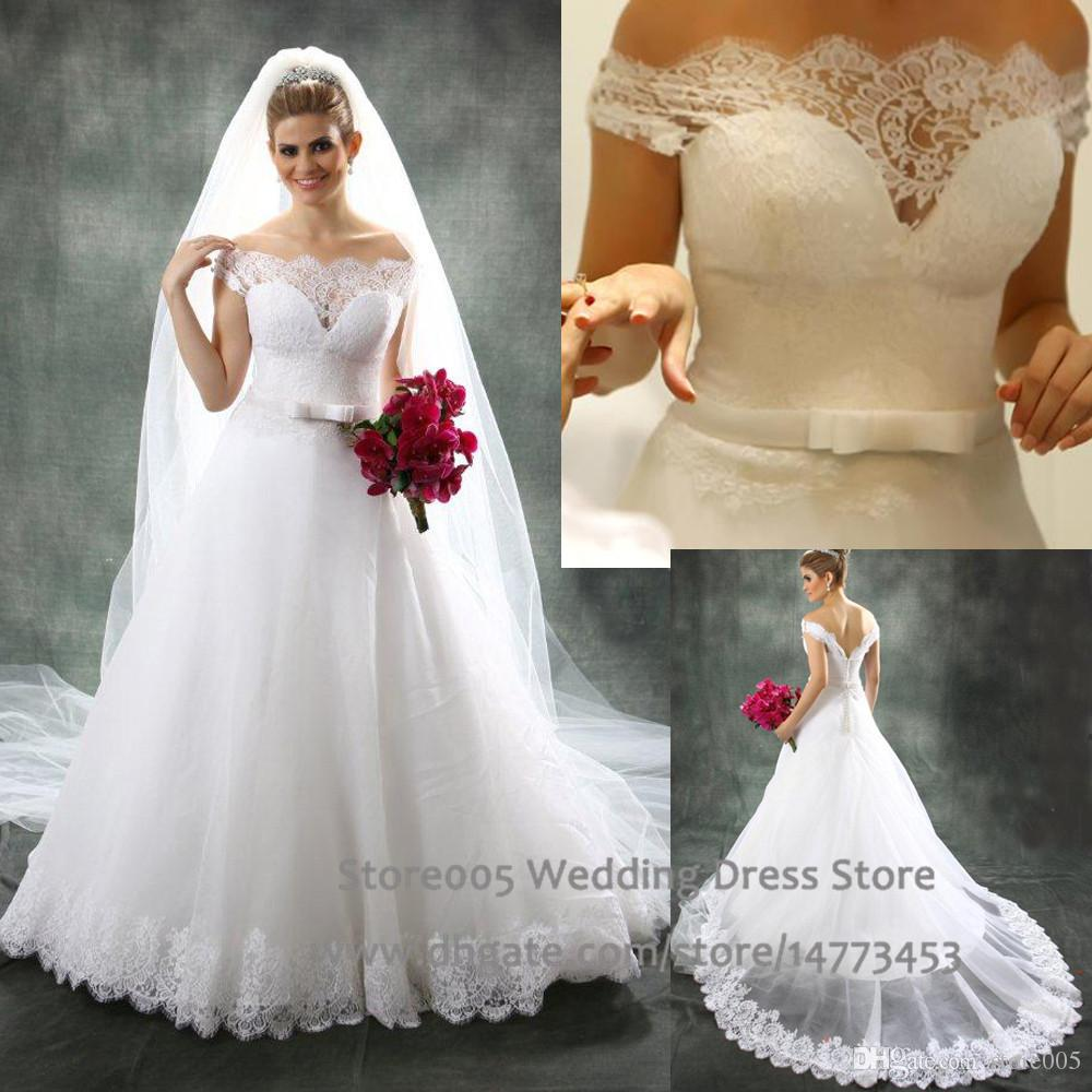 Discount Elegant White Greek A Line Wedding Dress 2015 Off The