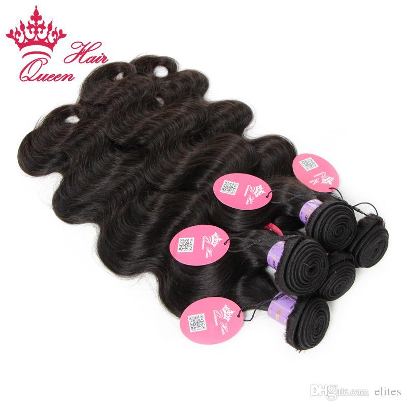 Queen Hair 4bundles / extensión de cabello humano de la armadura de la Virgen de Malasia 8