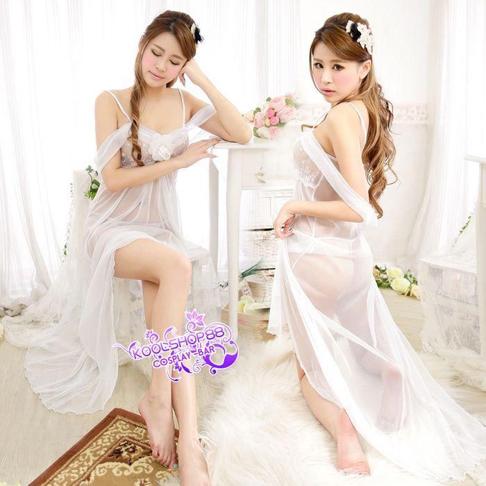 2018 Wedding Night Gifts Sheer Bridal Babydoll Lingerie Pajamas