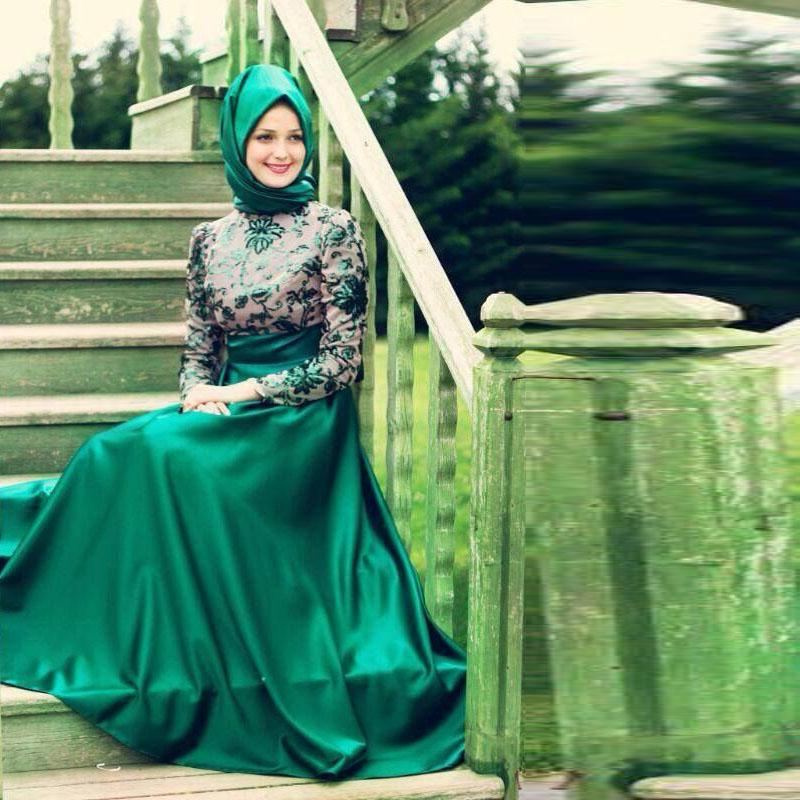 Green Kaftan Dress