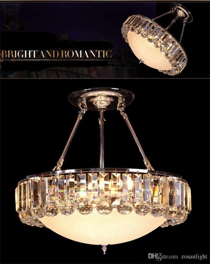 Modern Chandeliers E14 E12 LED Pendant Lamps Silver Body Crystal LED Pendant Lamps with LEDs 110V 220V Voltage High Quality sj-005
