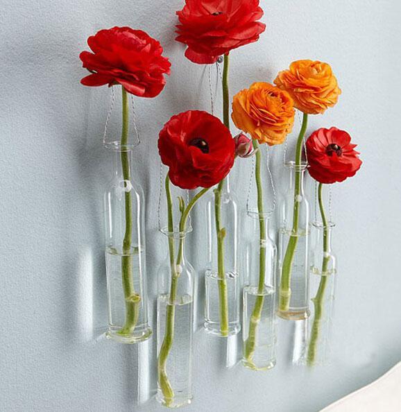 Modern Fashion Design Diy Vaes Glass Vase Wall Hanging