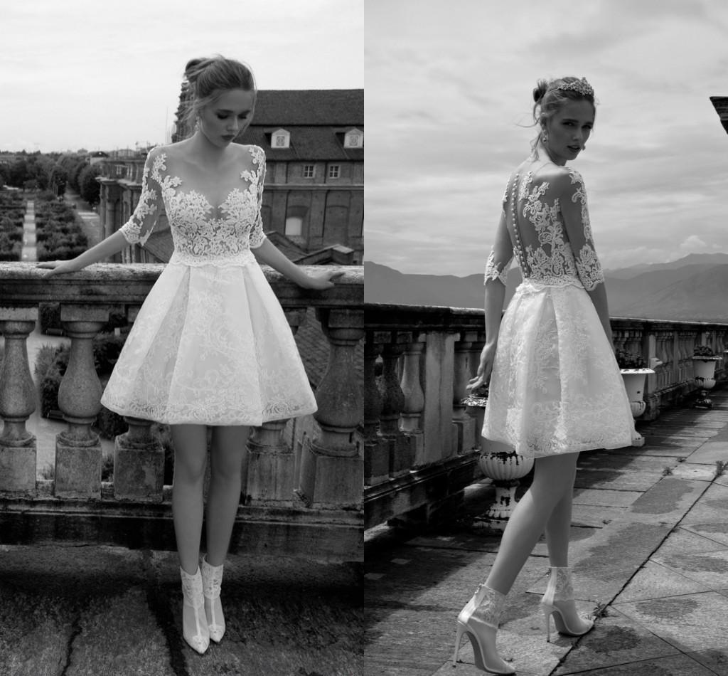 cheap lace wedding dresses discount back short sleeve lace wedding dresses