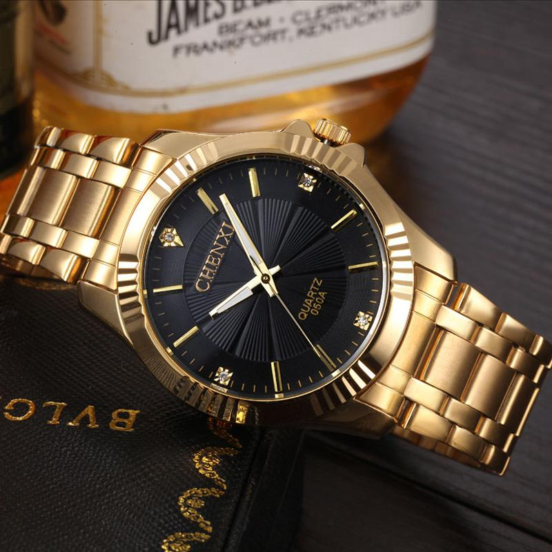 fashion gold quartz luxury