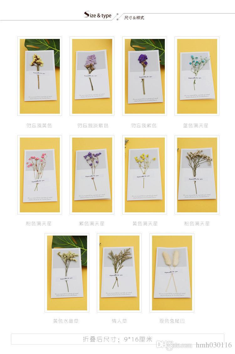 Hollow Kurutulmuş Çiçek Doğum Günü Teşekkür Kartları Doğum Günü Kartpostal Doğum Günü Tebrik Kartı Sevgililer Günü için Hediye
