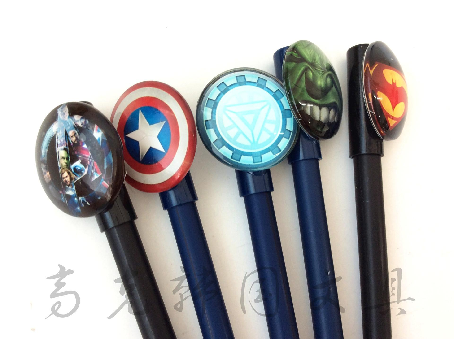 new arrival fashion cute Cool Super Hero design 0.5mm gel pens.Signature pen .