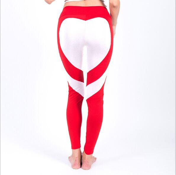 2017 Heart Yoga Pants Women Fitness Sexy Hips Push Up Leggings Mesh Sport Running Tight Pants Women Fitness Slim Gym Leggings