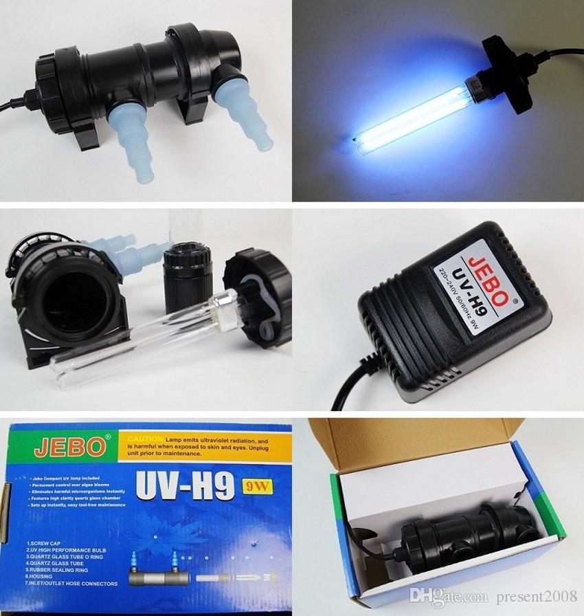 Gros-JEBO 5 W ~ 36 W Puissance UV Lampe Stérilisateur Lumière Filtre Ultraviolet Clarificateur Eau Nettoyant Pour Aquarium Pond Corail Koi Fish Tank