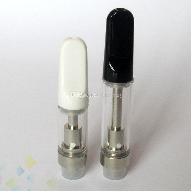 Th205 Th210 Atomizzatore Vaporizzatore Cartuccia di ceramica Drip Tip Tubo di vetro 0.5ml 1ml 510 Filo 2.0mm fori Wickless Ecig DHL Libero