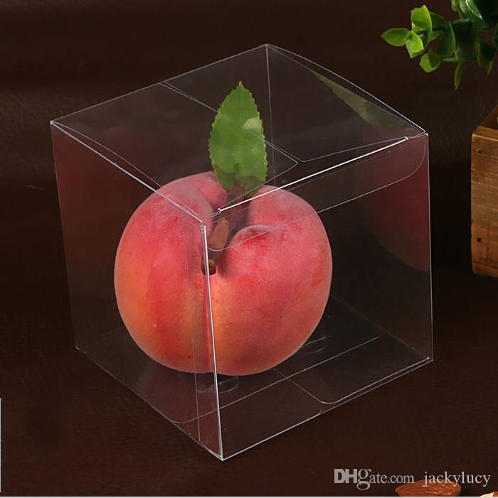 Top Quality 12 * 12 * 12 cm Environmentally Clear PVC Packaging Box Plastic Containers Fruit Candy Cake Toys Gift Box