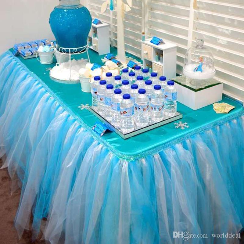2018 Diy 80cm Height Organza Table Skirt Cloth Reception