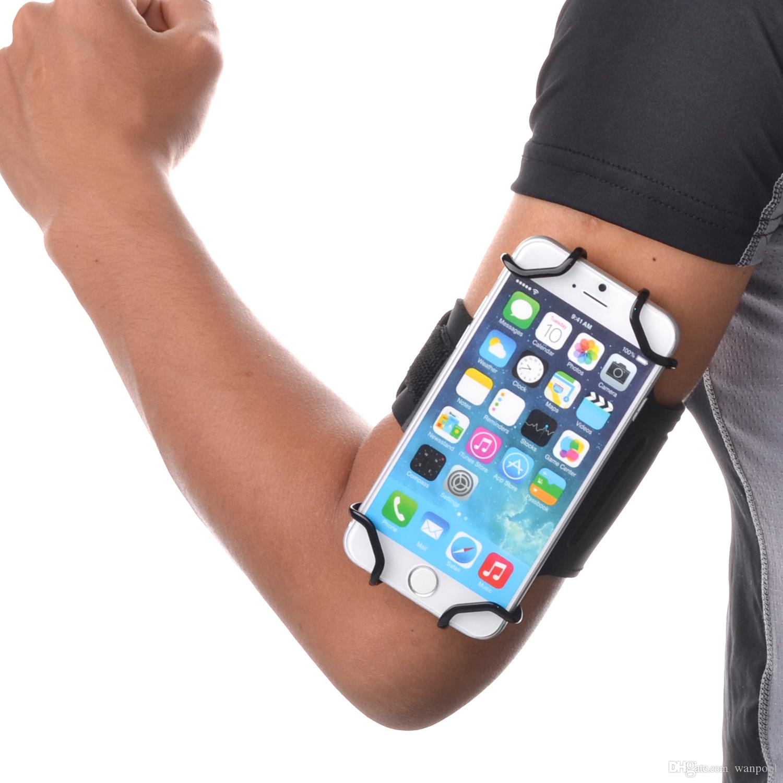TFY Open-Face Sport Armband + ключа держатель для более 5,5-дюймовых сотовых телефонов - дизайн открытого лица - прямой доступ к элементам управления сенсорным экраном