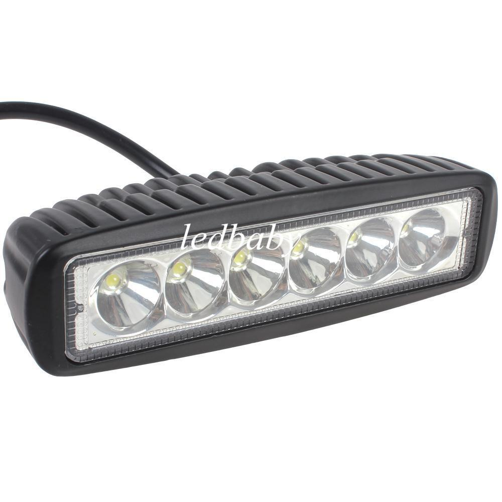 1550LM Mini 6 Inch 18W 6 x 3W CREE LED Bar work Light as Worklight / Flood Light / Spot Light for Boating / Hunting / Fishing