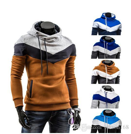 Hot Koop Nieuwe Heren Kleur Hooded met Hoed Fleece Fashion Casual Lange Mouw Hoodie Jas Jas Overjas Kleding voor Mannen M-3XL