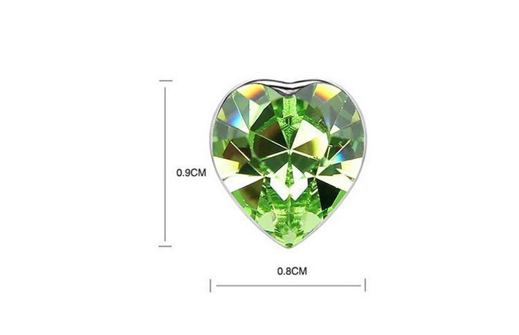Gli orecchini della collana del cuore di angolo mette i gioielli placcati bianco di modo 18k gli insiemi dei gioielli della lega di AMORE SET-00035