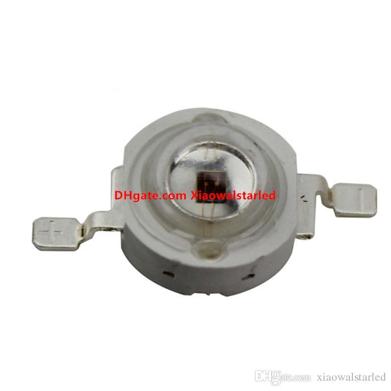 1W 3W 5W UV LED diode 365nm 385nm 405nm Purple Ultra Violet Diodes 3W Ampoule à LED haute puissance pour la stérilisation Photocatalytique