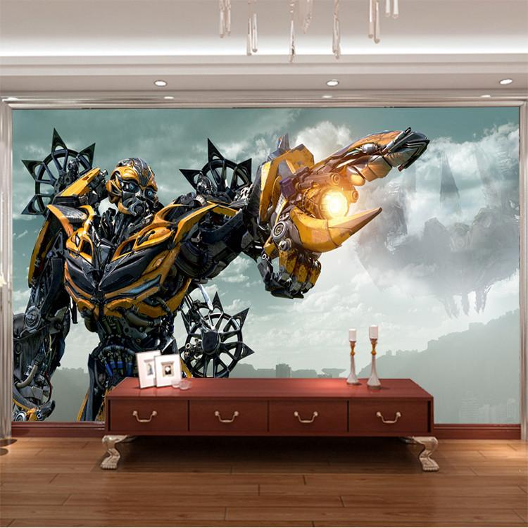 3d Bumblebee Wall Mural Transformers Photo Wallpaper Boys Kids Bedroom  Custom Movies Wallpaper Livingroom Large Wall Art Room Decor Hallway Hd  Wallpapers Of ...
