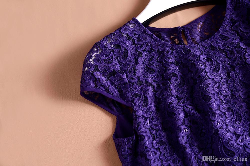 Lace Patchwork Mulheres A-Line Vestido De Moda Lantejoulas Vestidos 121581E
