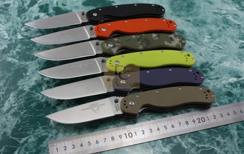 Новый Онтарио крыса модель 1 большой размер складной нож AUS-8 лезвие 6 цветов G10 ручка высокое качество оригинальный коробка кемпинг выживания EDC