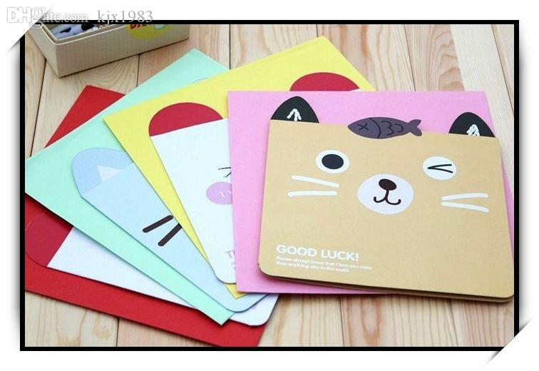 Wholesale 22cm22cm oversized creative cartoon cat greeting card wholesale 22cm22cm oversized creative cartoon cat greeting card with envelope for birthday chirstmas cute gift cardakl 025 reloadable gift cards spa gift m4hsunfo