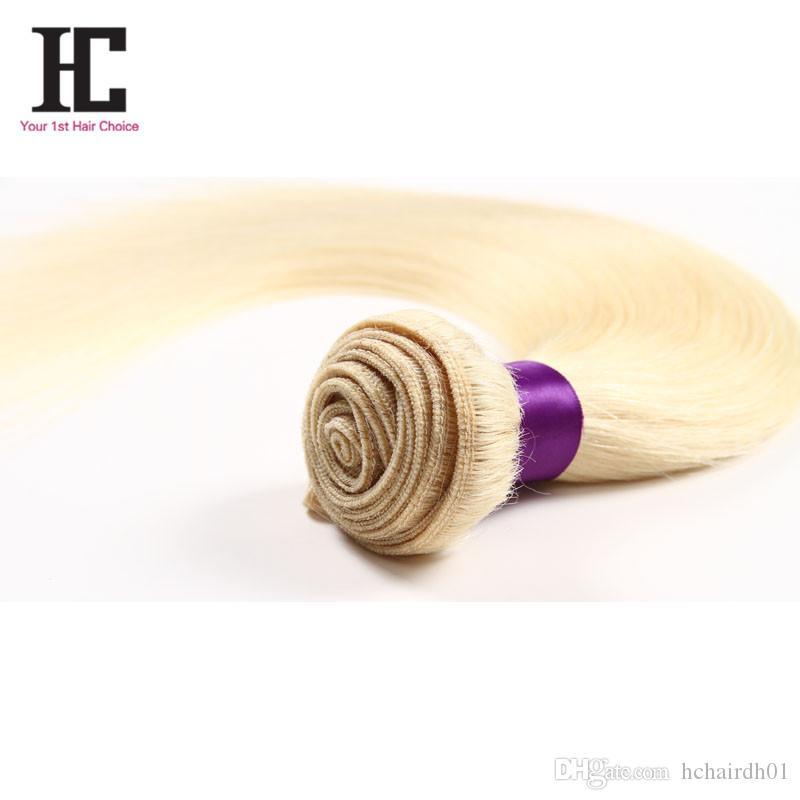 꿀 금발 브라질 페루 말레이시아 인디언 스트레이트 헤어 613 금발 처녀 직선 머리 금발 인간의 머리카락 확장