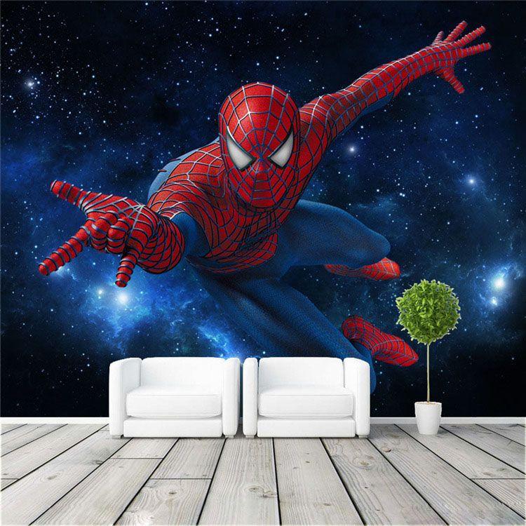 Spiderman Wall Mural custom super hero wall mural spiderman photo wallpaper silk