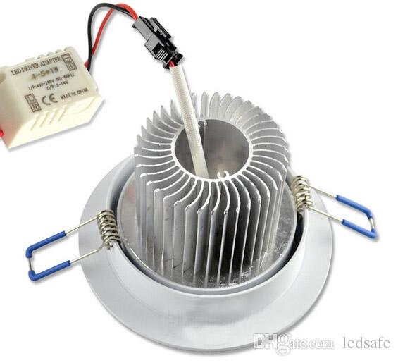 Dim LED Gömme 3W 5W 7W AC 110V 220V 230V Beyaz Gömme Tavan Aşağı Aydınlatma Lampara Iluminacion Ampul Sıcak beyaz CE Roş MOQ10 DHL