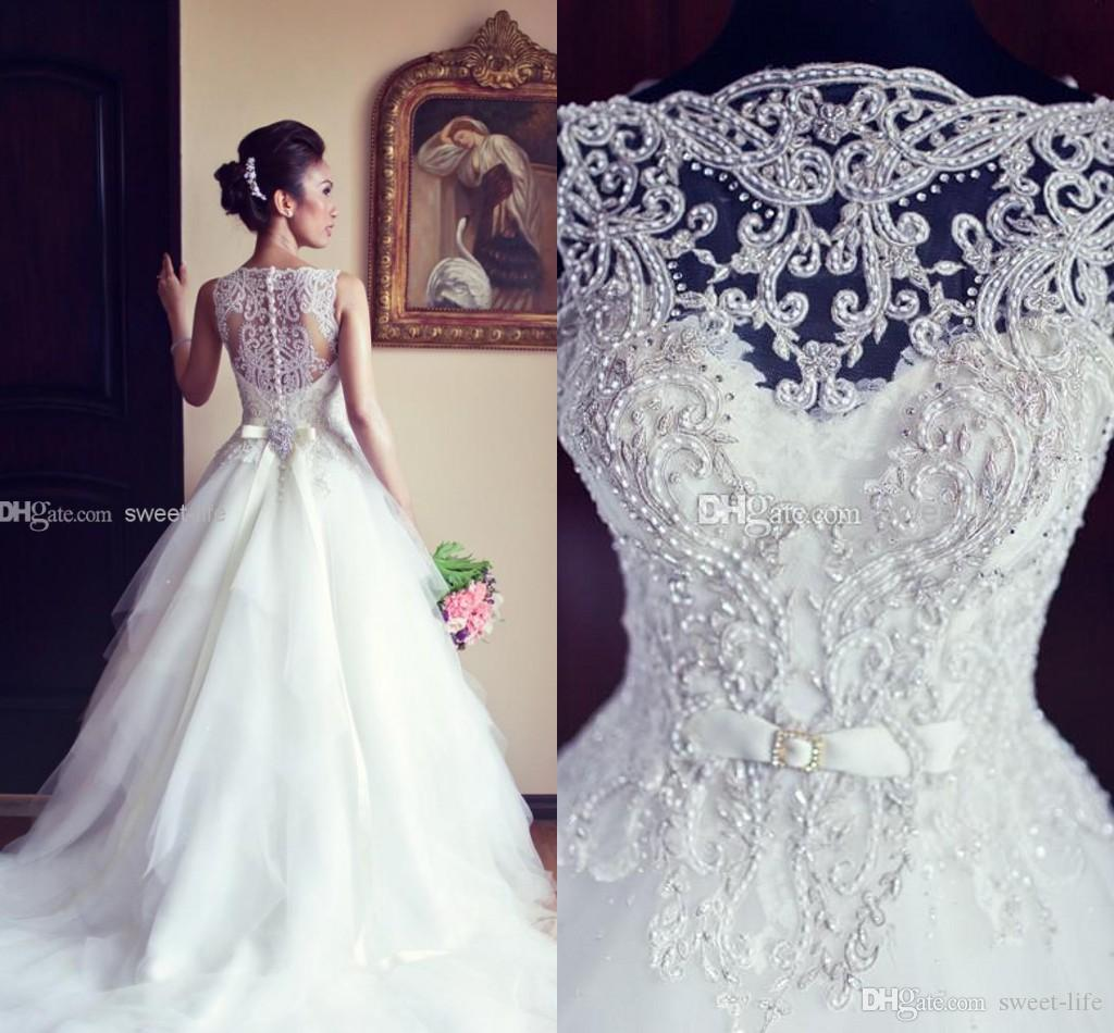 Discount Custom Made 2015 Cheap A Line Vintage Wedding