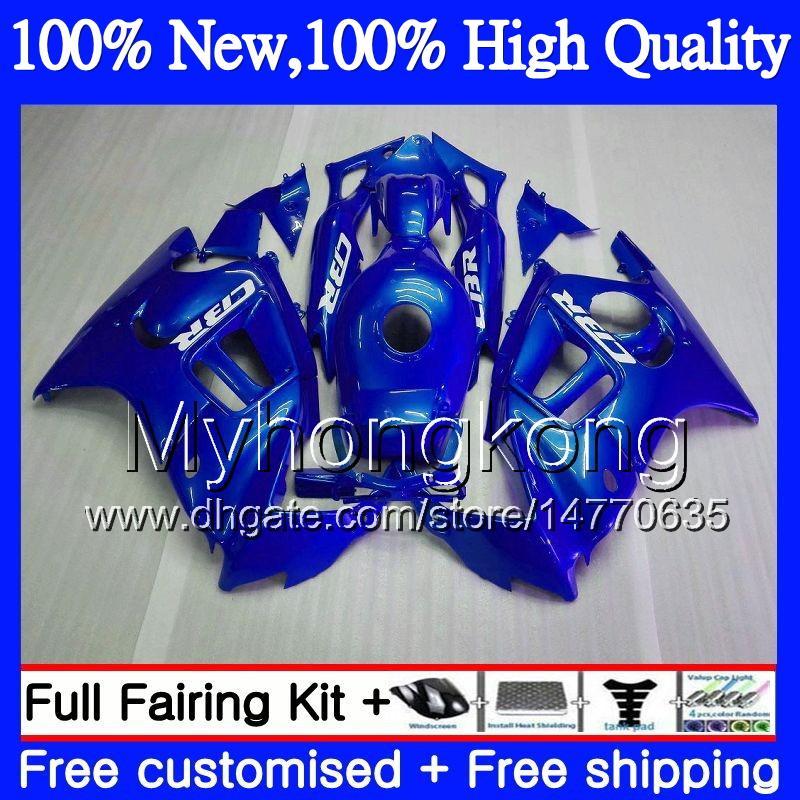 Carrosserie Moto Pour HONDA CBR600 F3 CBR600RR F3 CBR600FS 95 96 Bleu brillant 47MY8 CBR 600F3 FS CBR600F3 CBR600F3 1995 1996 Kit de carénage à chaud