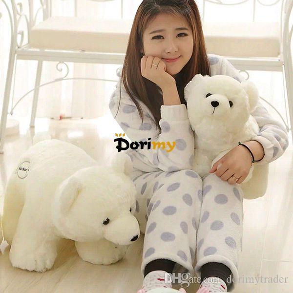 Dorimytrader Hot 28'' / 70cm Large Cute Giant Stuffed Soft Plush Animal Polar Bear White Bear Toy, Nice Baby Gift, DY60206